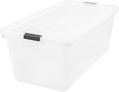 IRIS® 22.75 GAL Buckle Down Storage Box, 4 Pack (100201)