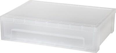 IRIS® Large Desktop Stacking Drawer, Clear (150074)