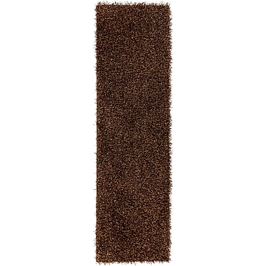 Brayden Studio Mchaney Hand-Tufted Brown Area Rug; Round 8'