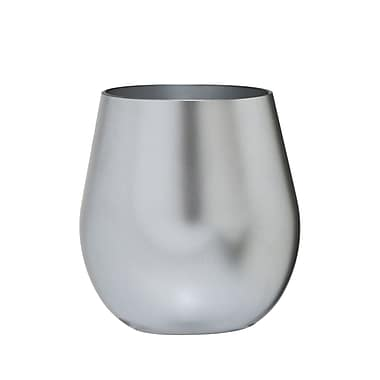 LeadingWare Group, Inc Metallic 20 Oz. Stemless Wine Glass (Set of 4); Silver