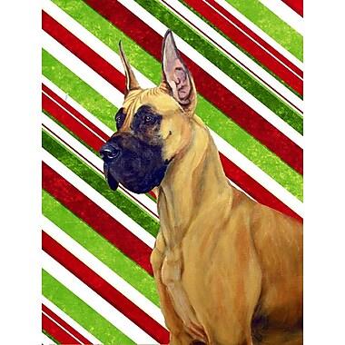 Caroline's Treasures Great Dane Candy Cane Holiday Christmas 2-Sided Garden Flag