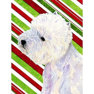 Caroline's Treasures Westie Candy Cane Holiday Christmas 2-Sided Garden Flag