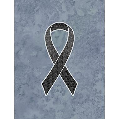 Caroline's Treasures Ribbon for Melanoma Cancer Awareness House Vertical Flag