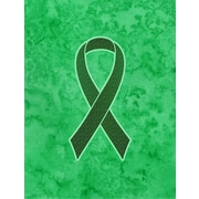 Caroline's Treasures Ribbon for Liver Cancer Awareness House Vertical Flag
