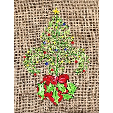 Caroline's Treasures Christmas Tree Fleur de lis House Vertical Flag
