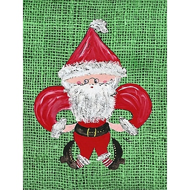 Caroline's Treasures Christmas Santa Fleur de lis House Vertical Flag