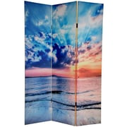 Oriental Furniture 70.88'' x 47.25'' Sunrise 3 Panel Room Divider