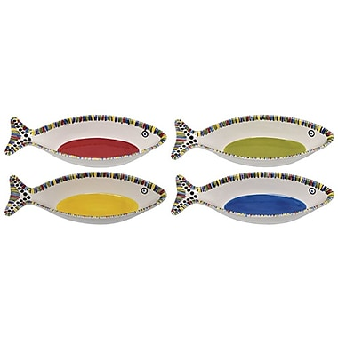Thompson and Elm Waters Fish Serving Bowl (Set of 4)