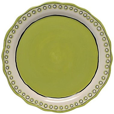 Thompson and Elm Colors Charger/Platter; Green