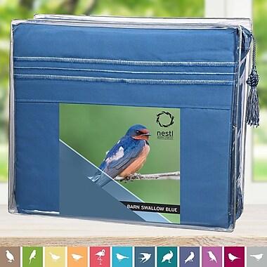 Nestl Bedding Barn Swallow Microfiber Sheet Set; King