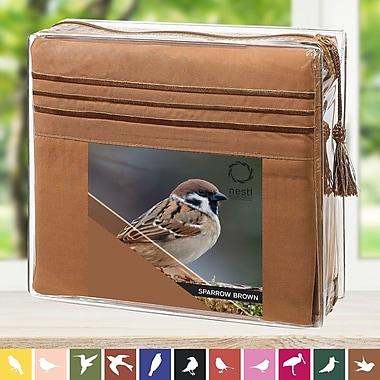 Nestl Bedding Sparrow Microfiber Sheet Set; Queen