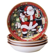Certified International Santa's Workshop Soup Bowl Set of 4