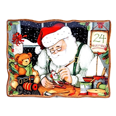 Certified International Santa's Workshop Rectangular Platter