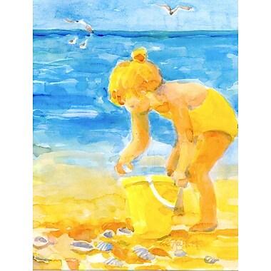 Caroline's Treasures Little Girl at the beach 2-Sided Garden Flag