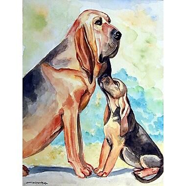Caroline's Treasures Bloodhound Momma's Love 2-Sided Garden Flag