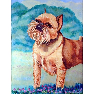 Caroline's Treasures Brussels Griffon 2-Sided Garden Flag