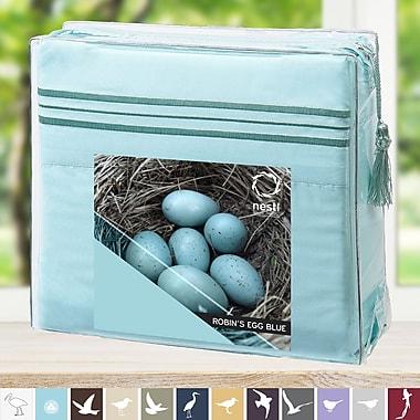 Nestl Bedding Robin's Egg Microfiber Sheet Set; Queen