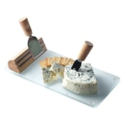 Picnic Plus by Spectrum Tempered Glass Geneva Cheese Board w/ Serving Tools