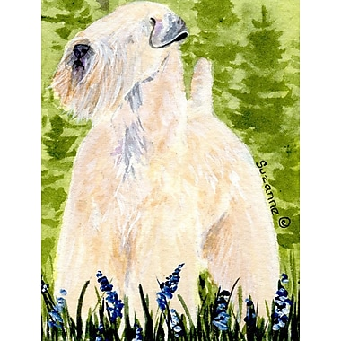Caroline's Treasures Wheaten Terrier Soft Coated House Vertical Flag