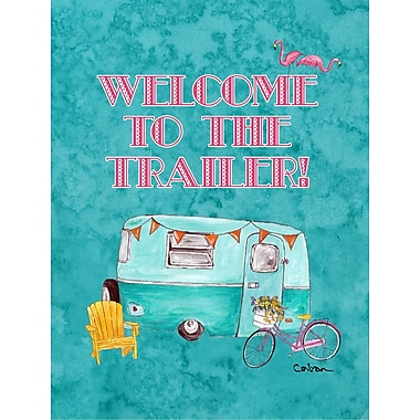 Caroline's Treasures Welcome to The Trailer House Vertical Flag