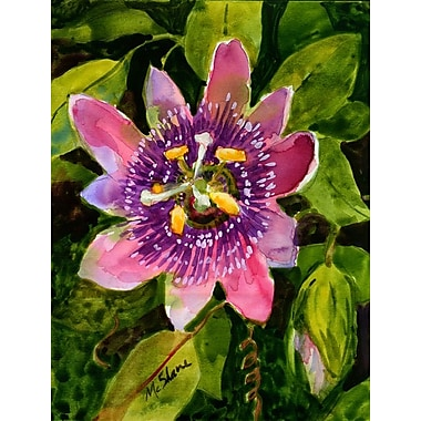 Caroline's Treasures Passion Flower House Vertical Flag