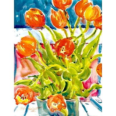 Caroline's Treasures Tulips House Vertical Flag