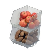 YBM Home Mesh Stacking Bin; Medium