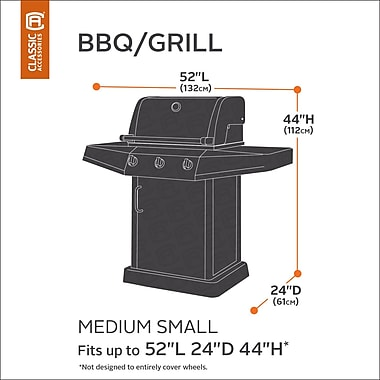 Classic Accessories Veranda BBQ Grill Cover; Medium-Small