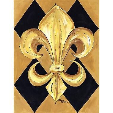 Caroline's Treasures Fleur de lis New Orleans House Vertical Flag