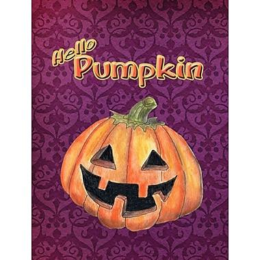 Caroline's Treasures Hello Pumpkin Halloween House Vertical Flag