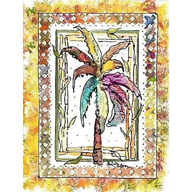 Caroline's Treasures Palm Tree House Vertical Flag