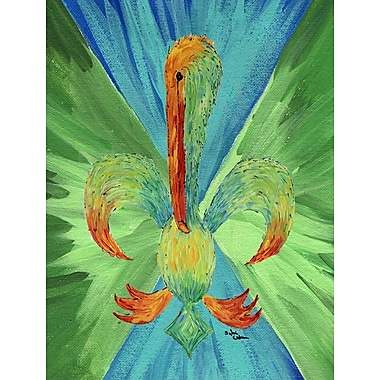 Caroline's Treasures Pelican Fleur-de-lis House Vertical Flag