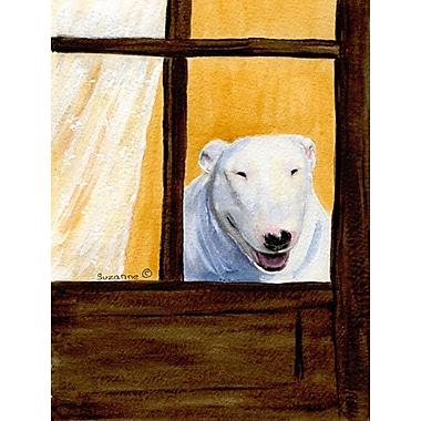 Caroline's Treasures Bull Terrier House Vertical Flag