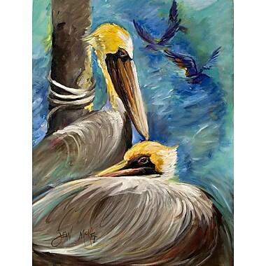 Caroline's Treasures Pelicans Remembering House Vertical Flag