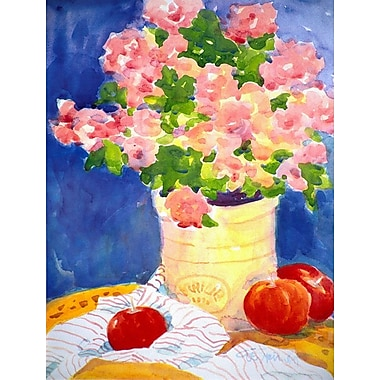 Caroline's Treasures Pink Flowers House Vertical Flag