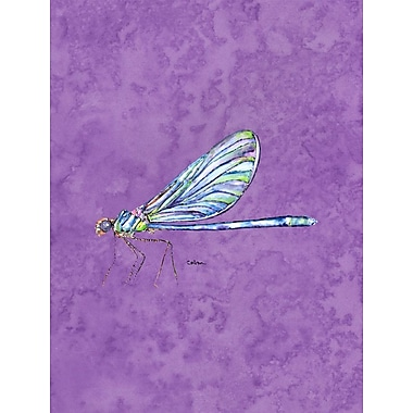Caroline's Treasures Dragonfly House Vertical Flag