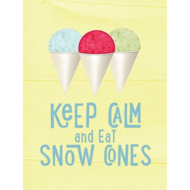 Caroline's Treasures Keep Calm and Eat Snow Cones House Vertical Flag