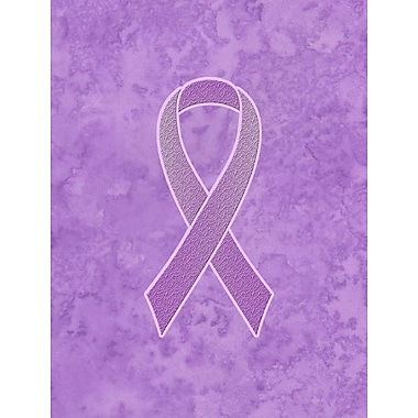 Caroline's Treasures Ribbon for All Cancer Awareness 2-Sided Garden Flag