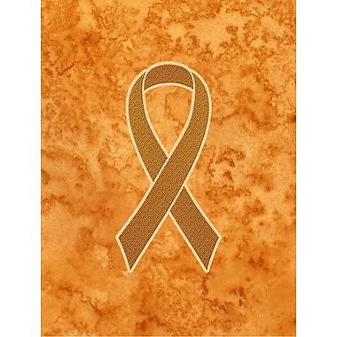 Caroline's Treasures Orange Ribbon for Leukemia Awareness 2-Sided Garden Flag