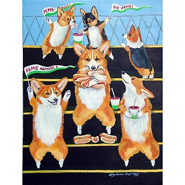 Caroline's Treasures Go Team Corgi 2-Sided Garden Flag