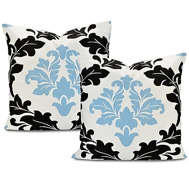Half Price Drapes Deauville Printed Cotton Cushion Cover (Set of 2)