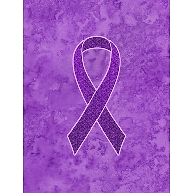 Caroline's Treasures Ribbon for Pancreatic and Leiomyosarcoma Cancer Awareness 2-Sided Garden Flag