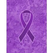 Caroline's Treasures Ribbon for Pancreatic and Leiomyosarcoma Cancer Awareness 2-Sided Garden Flag