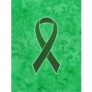 Caroline's Treasures Ribbon for Liver Cancer Awareness 2-Sided Garden Flag