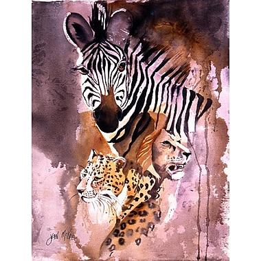 Caroline's Treasures Cheetah, Lion, and Zebra House Vertical Flag