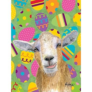 Caroline's Treasures Eggtravaganza Goat Easter House Vertical Flag