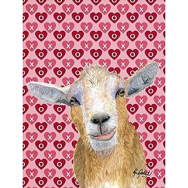 Caroline's Treasures Hearts and Love Goat House Vertical Flag