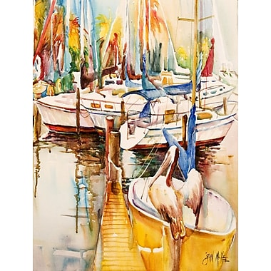 Caroline's Treasures Sailboats and Pelicans House Vertical Flag