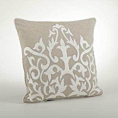 Saro The Posh Embroidered Cotton Throw Pillow