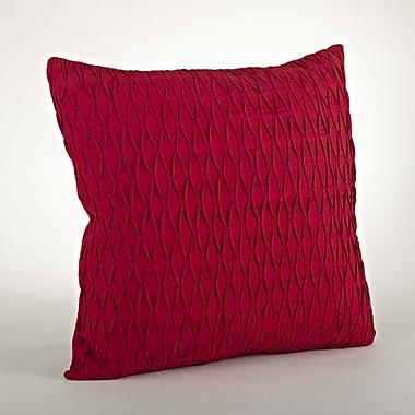Saro Malawi Diamond Pleated Cotton Throw Pillow